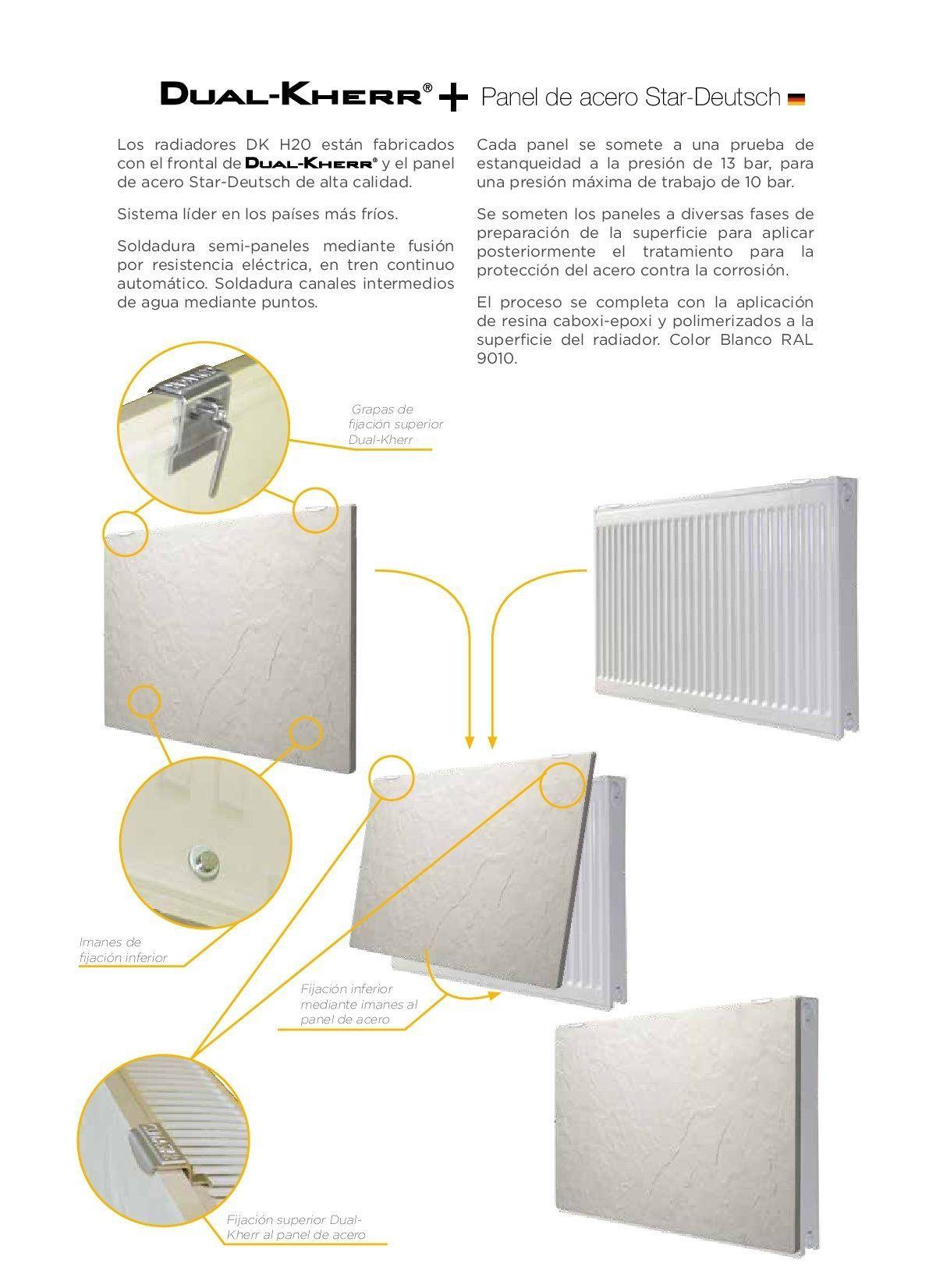 Ficha Técnica Radiador agua Climastar DK 22