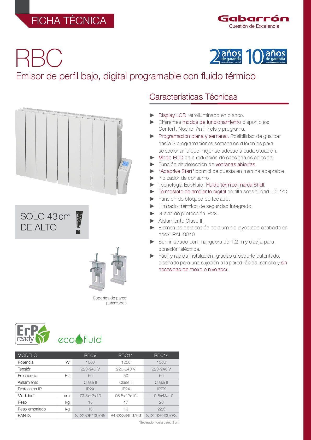 Emisor Térmico Gabarrón RBC