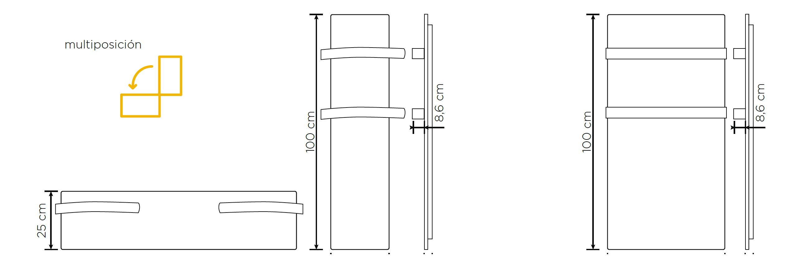 Toallero eléctrico Climastar Slim