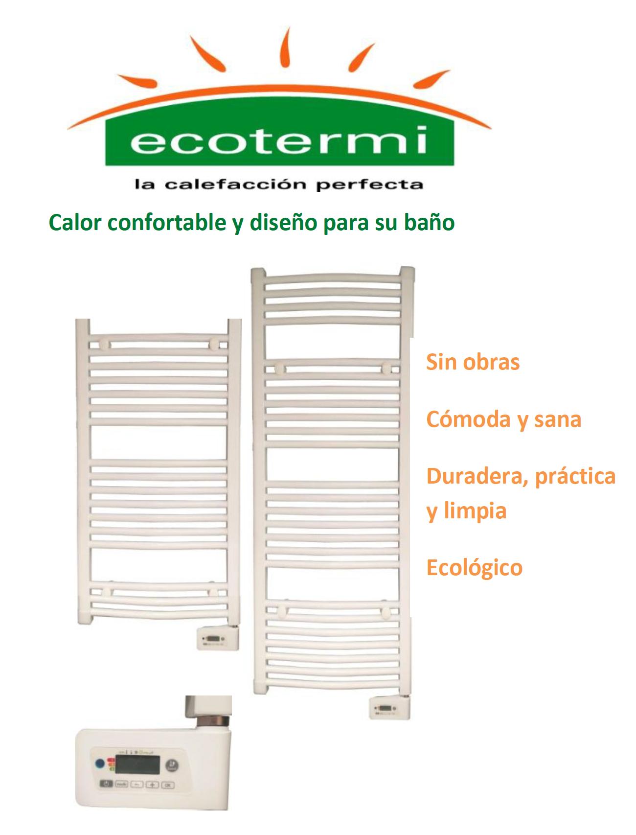 Toallero eléctrico Ecotermi CTP 451T